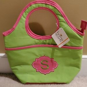"""Monogram """"S"""" Lunch Tote"""